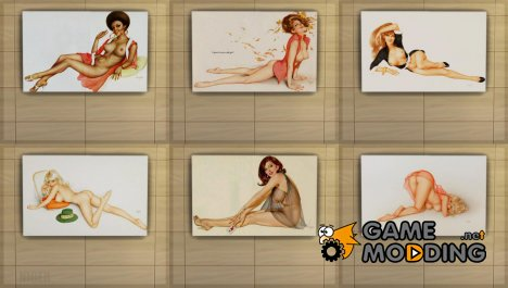 Картины с эротикой - Варгас Pin Ups для Sims 4