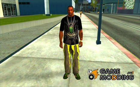 Monster energy suit pack for GTA San Andreas