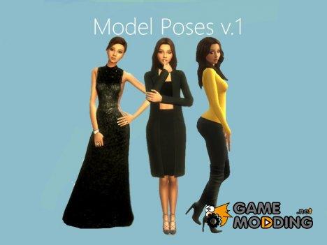 Model Poses v.1 for Sims 4