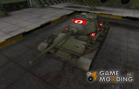 Зона пробития для Т-44 для World of Tanks