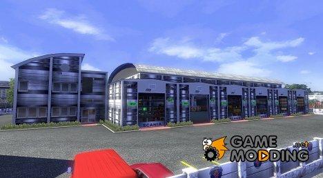 Большой гараж Scania для Euro Truck Simulator 2