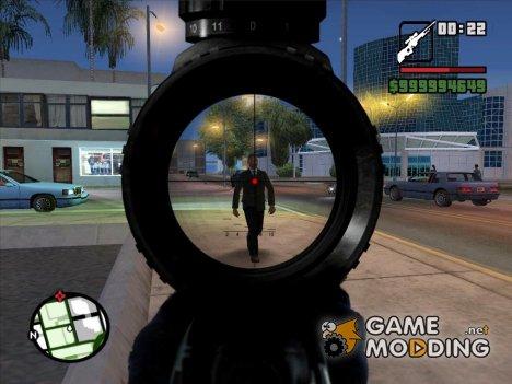 Sniper scope v4 for GTA San Andreas