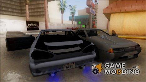 Elegy с выдвижным спойлером для GTA San Andreas