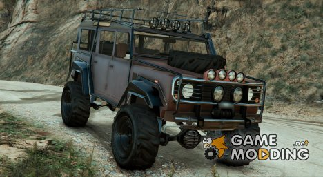 Land Rover 110 Outer Roll Cage v3 Fixed для GTA 5