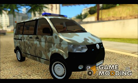 Volkswagen Transporter Camo for GTA San Andreas