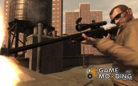 """Снайперская винтовка """"AI Arctic Warfare Magnum"""" для GTA 4"""