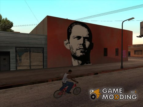 Paul Walker Graffiti for GTA San Andreas