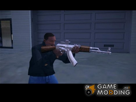 AK-47 woody chrome for GTA San Andreas