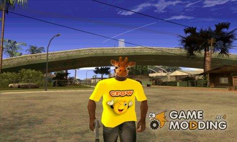 Футболка  crow для GTA San Andreas