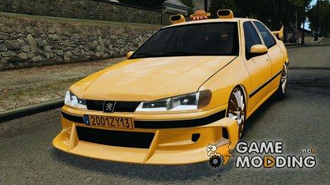 Peugeot 406 Taxi для GTA 4