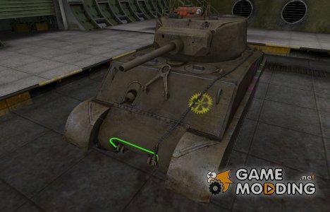 Контурные зоны пробития M4A3E2 Sherman Jumbo for World of Tanks