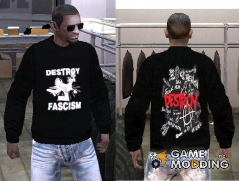 "Свитер ""Destroy Fascism"" for GTA 4"