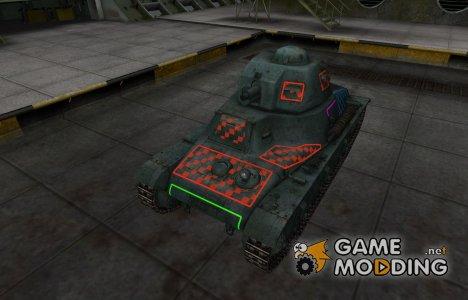 Контурные зоны пробития Hotchkiss H35 для World of Tanks