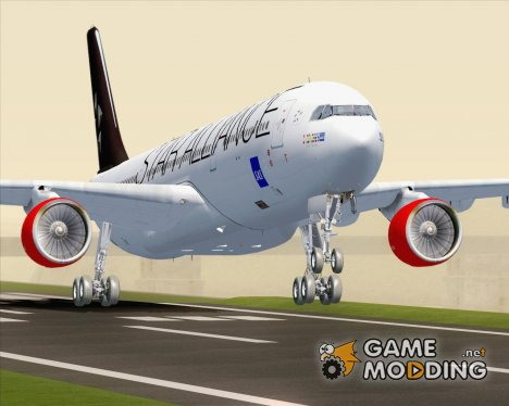 Airbus A330-300 Scandinavian Airlines SAS Star Alliance Livery for GTA San Andreas