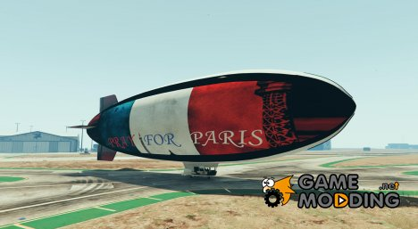 Pray for Paris Blimp для GTA 5