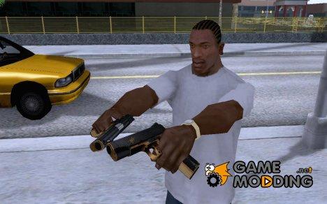 Золото-чёрный кольт for GTA San Andreas
