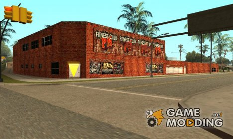 Fitnes and boxing + interior for GTA San Andreas