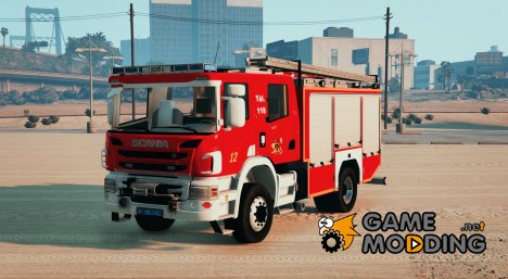 Scania P360 - Firetruck Swiss - GE SIS for GTA 5