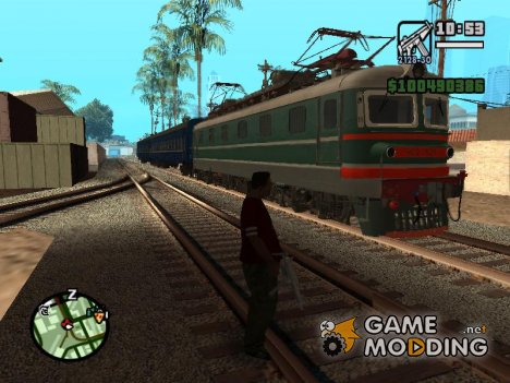 Поезда ездящие по Украине для GTA San Andreas