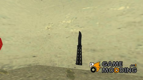 Butterfly Knife (Black) for GTA Vice City
