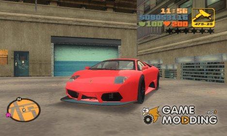 Lamborghini Murcielago R-SV GT1 TT for GTA 3