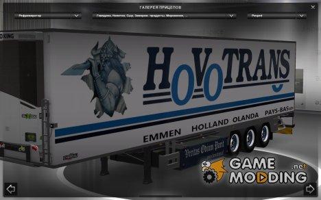 Hovotrans скин для автономного прицепа Chereau для Euro Truck Simulator 2