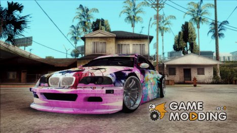 BMW M3 E46 GTR Golden Time Itasha для GTA San Andreas
