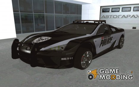 Lexus LFA Police 2011 for GTA San Andreas