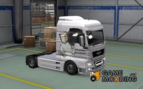 Скин Anonymous delivers для MAN TGX for Euro Truck Simulator 2