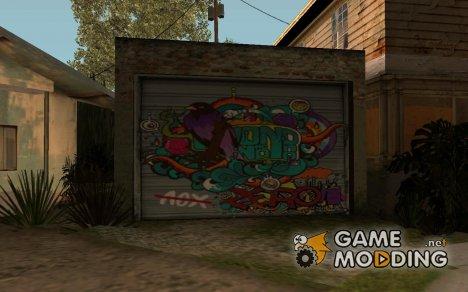 Граффити на гараже for GTA San Andreas