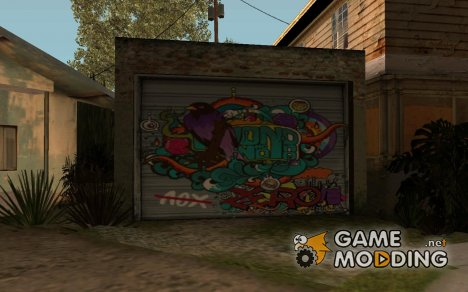 Граффити на гараже для GTA San Andreas