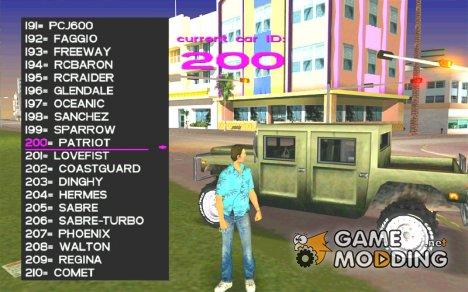 Gta Vice City Car Spawner для GTA Vice City