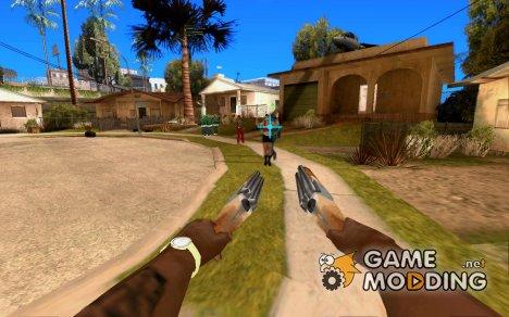 Голубой прицел for GTA San Andreas