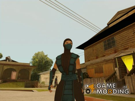 Cassie Cage Sub Zero Cosplay DLC from Mortal Kombat X for GTA San Andreas