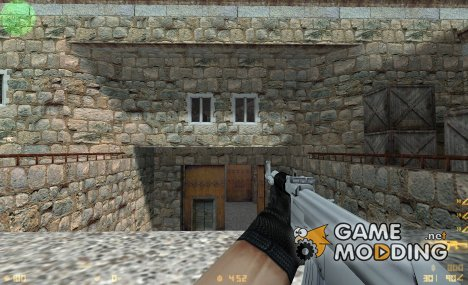 Crossfire style AK-47 silver for Counter-Strike 1.6