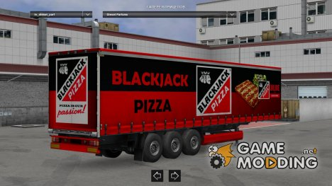 Blackjack Pizza Trailer HD for Euro Truck Simulator 2