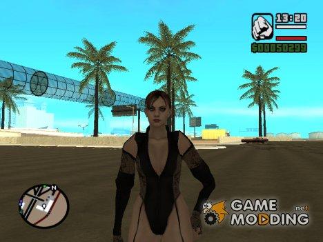 """Джилл в откровенной одежде """"Miss Valentine"""" для GTA San Andreas"""