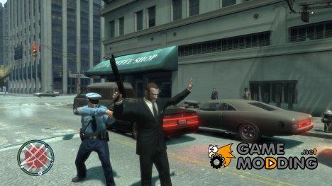 Арест за ношение оружия для GTA 4