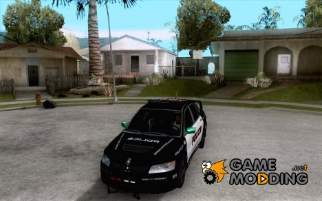 Mitsubishi Lancer Evo VIII MR Police for GTA San Andreas