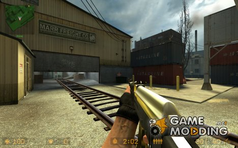 "Golden ""Iraq Style"" AK-47 *FIXED* for Counter-Strike Source"