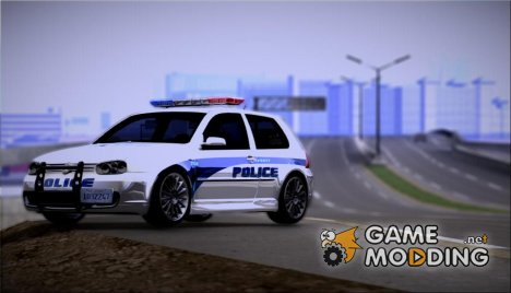 2003 Volkswagen Golf MK4 R32 Liberty City Police Custom для GTA San Andreas