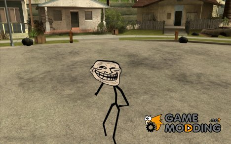 TrollFace skin for GTA San Andreas