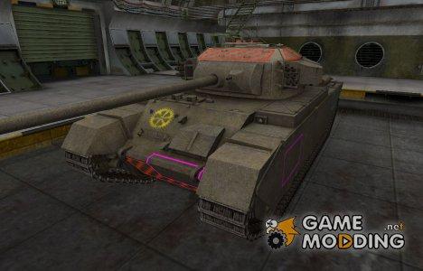 Контурные зоны пробития Centurion Mk. 7/1 для World of Tanks