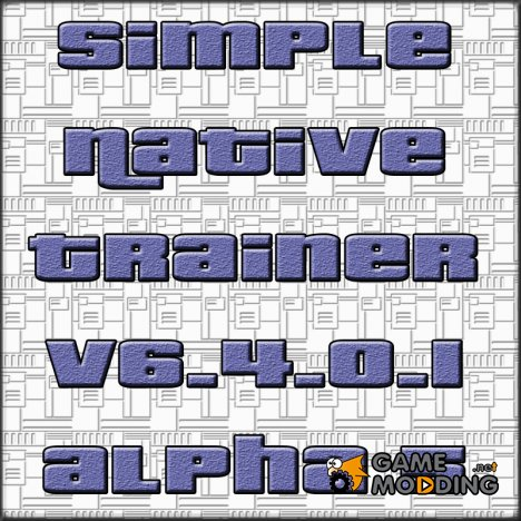 Simple Native Trainer v6.4.0.1 alpha 5 for GTA 4