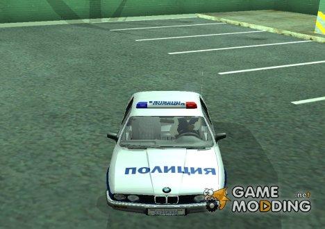 BMW 323i E30 Полиция for GTA San Andreas