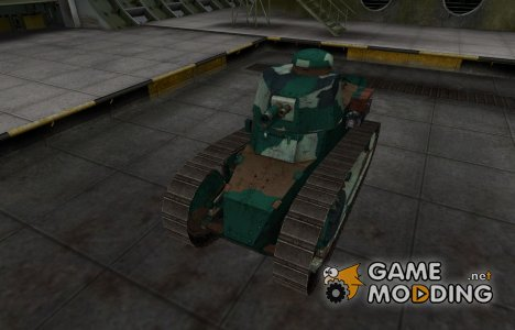 Французкий синеватый скин для Renault FT для World of Tanks