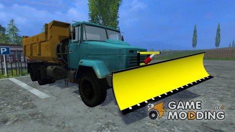 КрАЗ 6510 Cнегоочиститель для Farming Simulator 2015