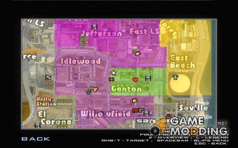 Новая карта и радар for GTA San Andreas