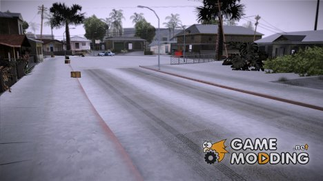 Winter Grove Street для GTA San Andreas