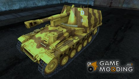Wespe Gesar 3 для World of Tanks